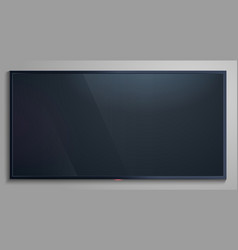 realistic tv screen lcd modern blank display vector image
