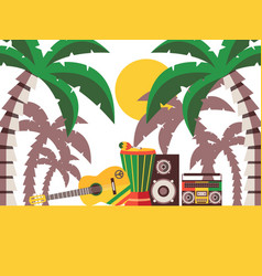 Reggae music beach party vector