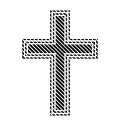 Religious cross sign vector image