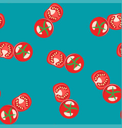 seamless tomato pattern for fruit background vector image
