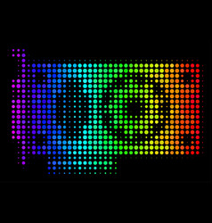 Spectral colored dot video gpu card icon vector