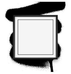 square black frame on white background vector image