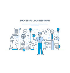 success work communication dealings leadership vector image