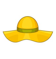 Sun hat icon cartoon style vector