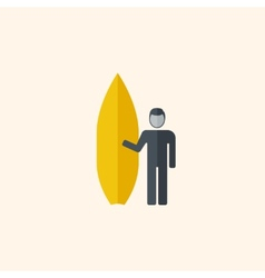 Surfing Travel Flat Icon vector