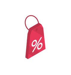 tag price discount online shopping isometric icon vector image