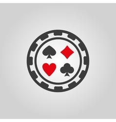 The casino chip icon Casino Chip symbol Flat vector image
