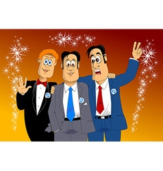 Three friends vector