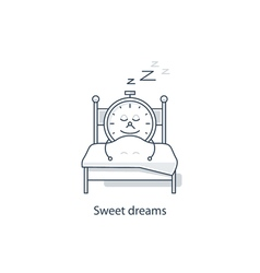 Time to sleep night dreaming vector