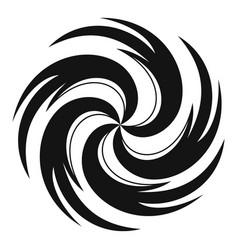 Tornado icon simple style vector