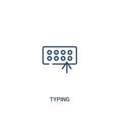 Typing concept 2 colored icon simple line element vector