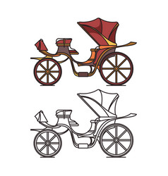 victorian or french chariot retro calash or buggy vector image