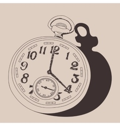 Watch vintage vector image