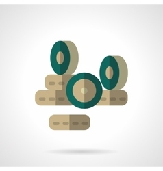 Wheels store flat color design icon vector image