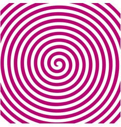 white pink round abstract vortex hypnotic spiral vector image