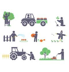 Work in garden vector