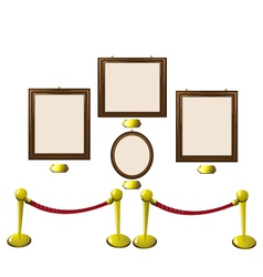 Empty Wooden Frames in a Museum vector image vector image