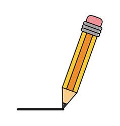 pencil scholar write vector image