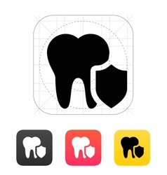 Protected tooth icon vector image vector image
