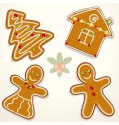 gingerbread cookie vector image vector image