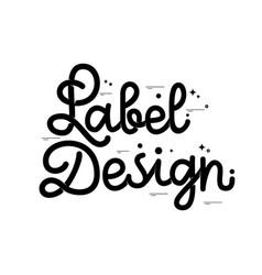 label design retro sign badge banner template vector image