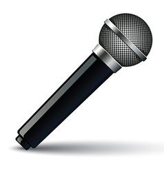 Microphone isolated on white background vector image