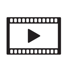 video icon on white background video icon sign vector image vector image