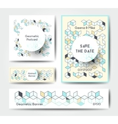 Abstract geometric banner templates vector image vector image