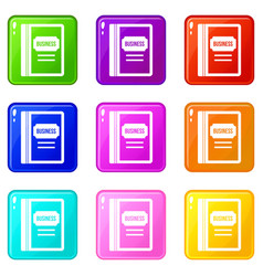 business book set 9 vector image