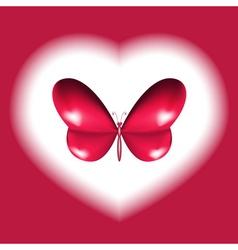 Heart butterfly design vector