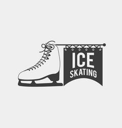 ice skating logo vector image