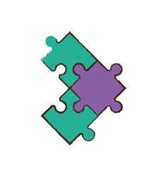 jigsaw puzzle pieces image vector image vector image