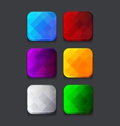 Empty web icons set vector image