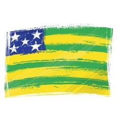 Grunge Goias flag vector image vector image