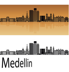 medellin skyline vector image vector image