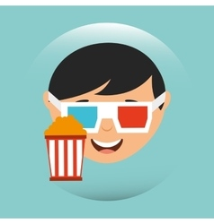 movie viewer design vector image vector image