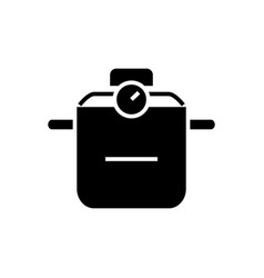 pot thermo icon black sign vector image