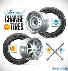 Tire Change Season vector image vector image