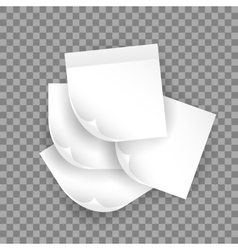 white realistic paper sheet with shadow vector image vector image