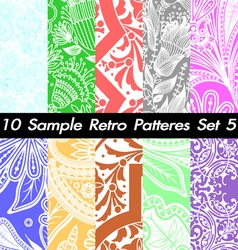 10 Retro Patterns Textures Set 5 vector