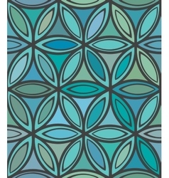 Abstract seamless blue and green floral pattern vector