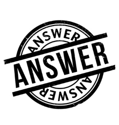 Answer rubber stamp vector