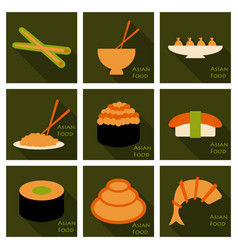 Asian food background food poster vector