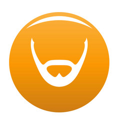 Beard and whiskers icon orange vector