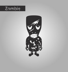 Black and white style icon of halloween monster vector