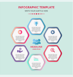 Business honeycomb infographic template vector