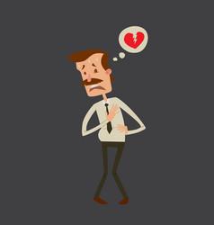 businessman heart risk man heart attack stress vector image vector image