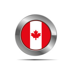 Canadian country flag icon in form vector