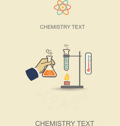 Chemistry infographic poster vector image