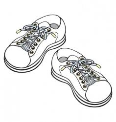 children's sneakers vector image
